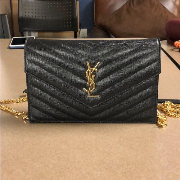 481f3e8f47fd7 Yves Saint Laurent Bags | 1 Hour Sale Small Ysl Wallet On A Chain ...